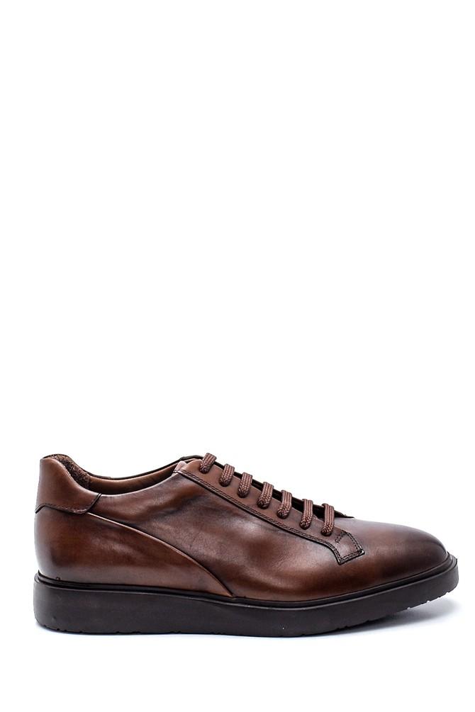 Kahverengi Erkek Deri Sneaker 5638318263