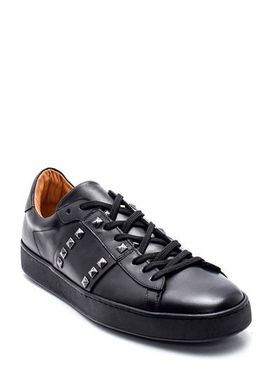 Siyah Erkek Deri Sneaker 5638323414