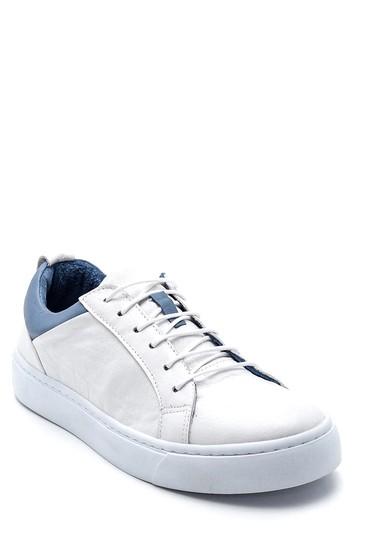 Beyaz Kadın Deri Casual Sneaker 5638334904