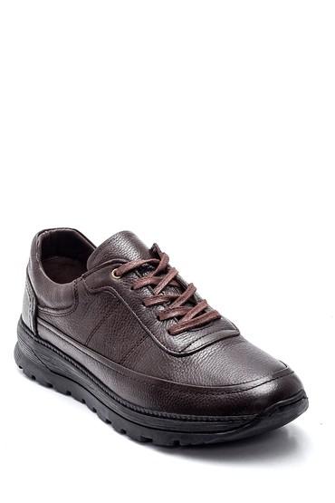 Kahverengi Erkek Deri Sneaker 5638336748