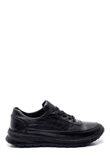 Siyah Erkek Deri Sneaker 5638336746