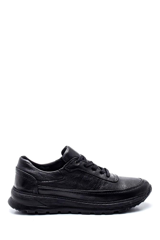 Siyah Erkek Deri Sneaker 5638336762