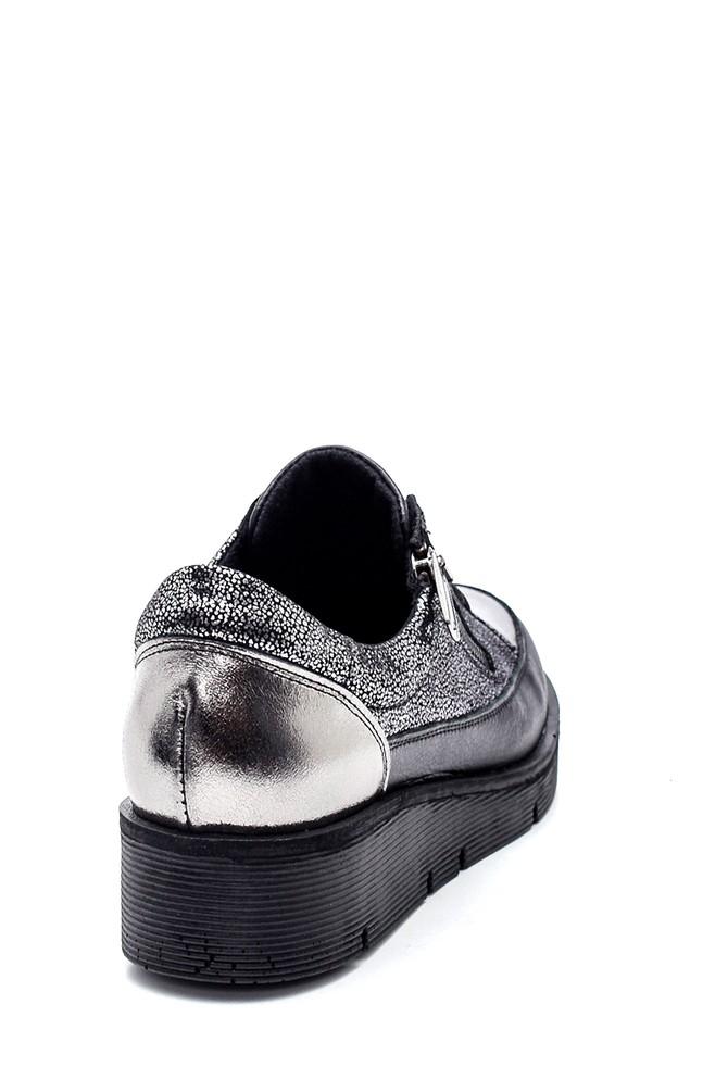 5638335803 Kadın Deri Fermuarlı Sneaker