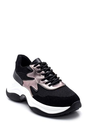 Siyah Kadın Yüksek Taban Sneaker 5638343608