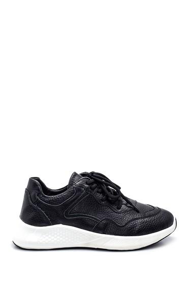 Siyah Kadın Deri Sneaker 5638343819