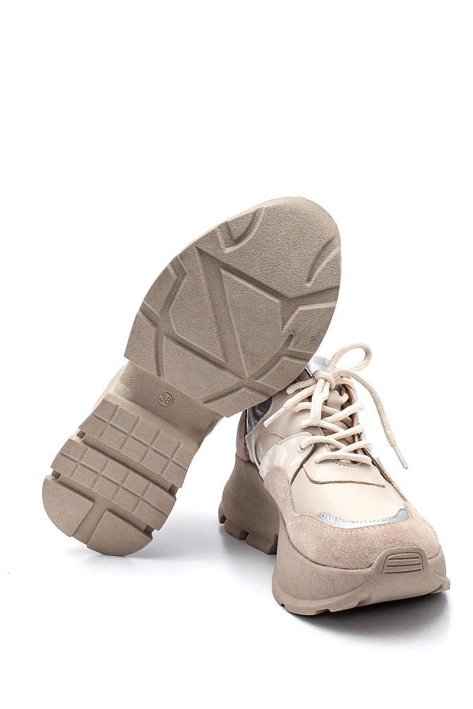 5638330558 Kadın Deri  Süet Deyatlı Sneaker
