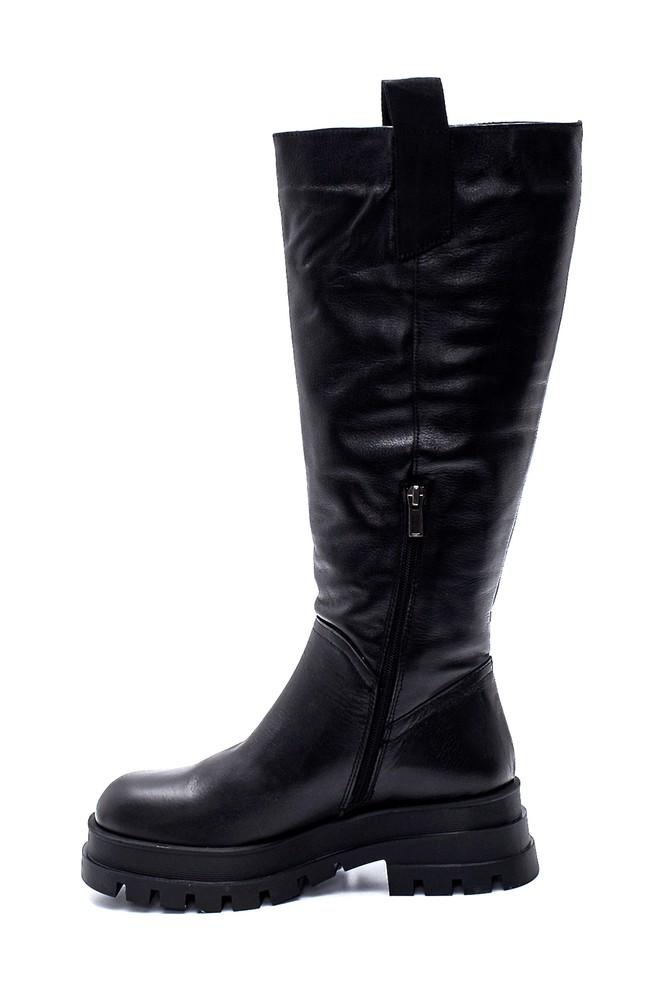 5638306762 Kadın Deri Fermuarlı Çizme
