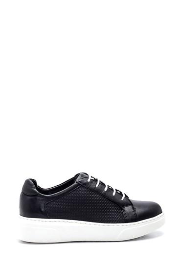 Siyah Kadın Deri Sneaker 5638334922