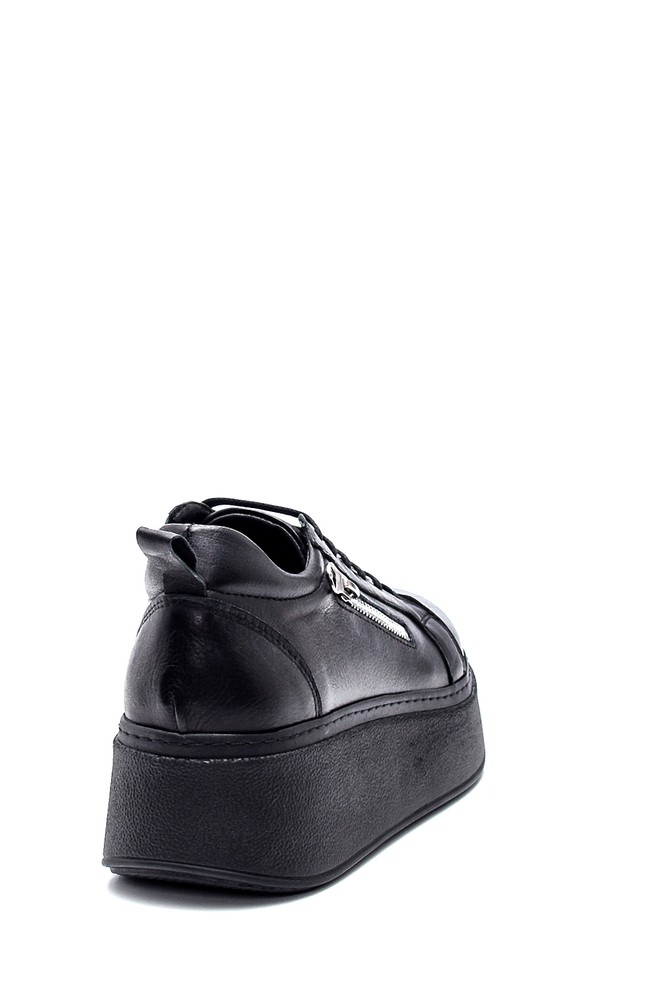 5638334981 Kadın Deri Fermuar Detaylı Sneaker