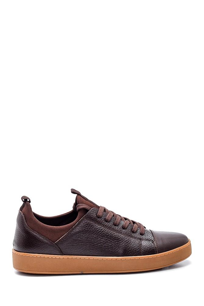 Kahverengi Erkek Deri Sneaker 5638320441