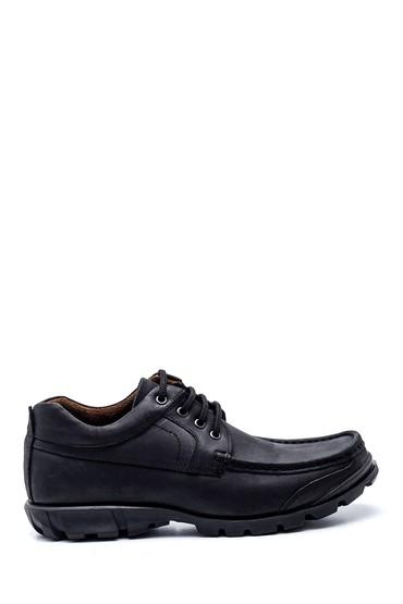 Siyah Erkek Deri Casual Ayakkabı 5638324359