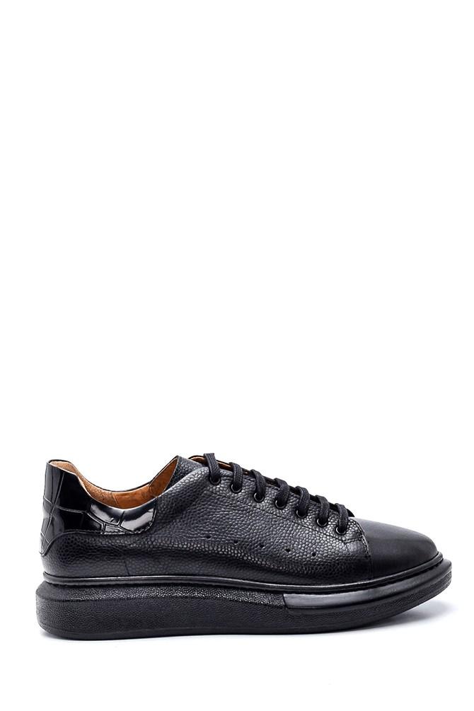 Siyah Erkek Deri Sneaker 5638327604