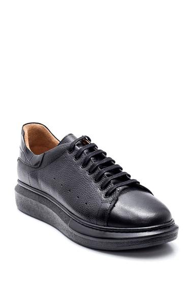 Siyah Erkek Deri Sneaker 5638327594