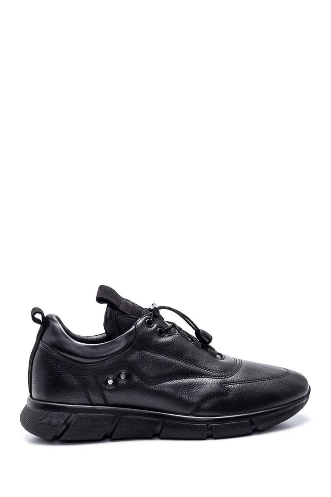 Siyah Erkek Deri Sneaker 5638332798