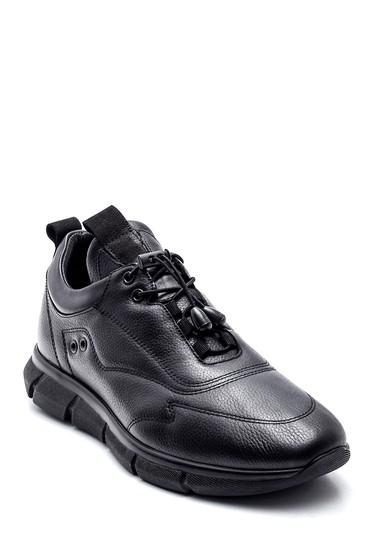 Siyah Erkek Deri Sneaker 5638332790
