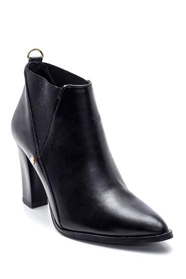 Siyah Kadın Lastikli Topuklu Bot 5638336353