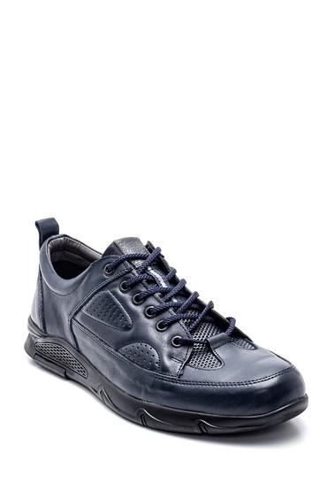 Lacivert Erkek Deri Sneaker 5638347822