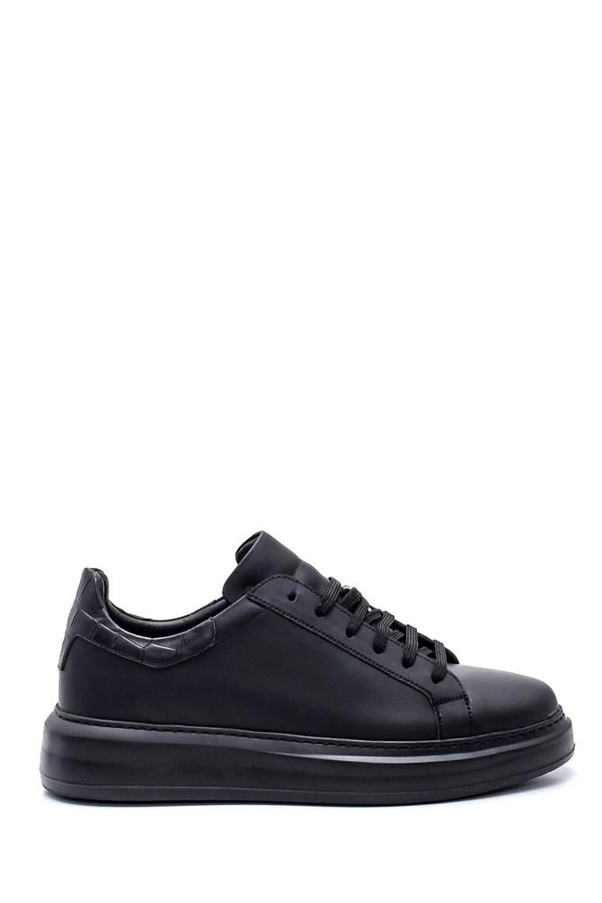 Siyah Erkek Deri Sneaker 5638347871