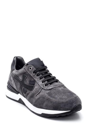 Gri Erkek Deri Süet Sneaker 5638347896