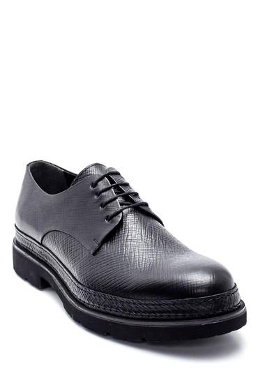 Siyah Erkek Deri Baskılı Ayakkabı 5638347937
