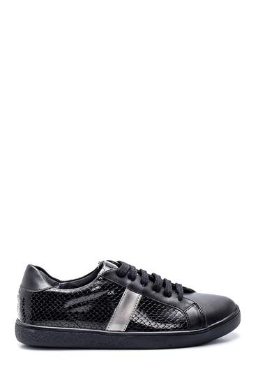 Siyah Kadın Baskılı Sneaker 5638346528