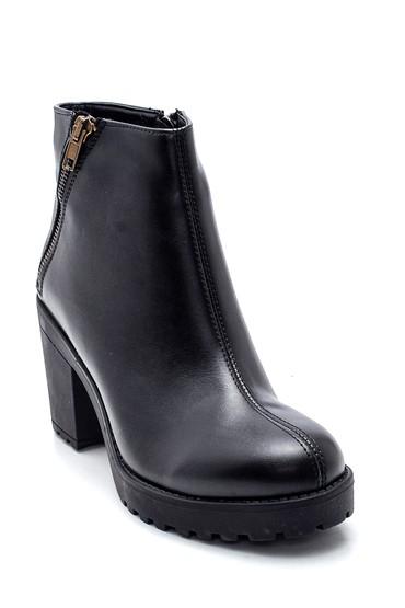 Siyah Kadın Fermuarlı Topuklu Bot 5638336042