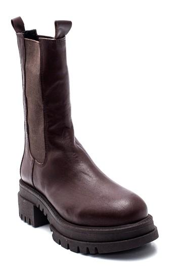 Kahverengi Kadın Deri Uzun Chelsea Bot 5638306547