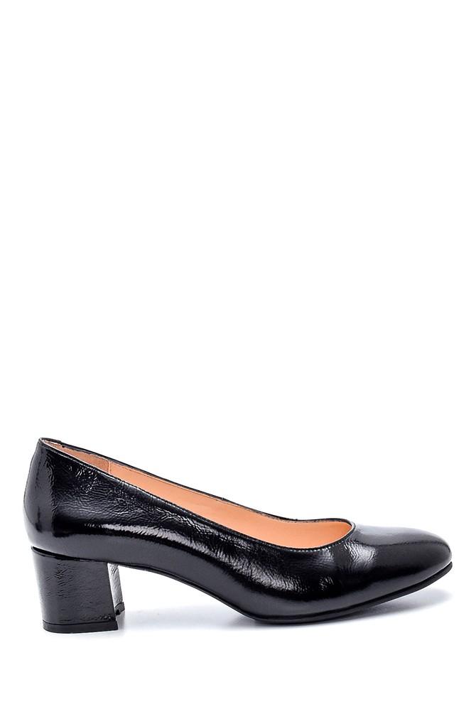 Siyah Kadın Deri Topuklu Ayakkabı 5638349342