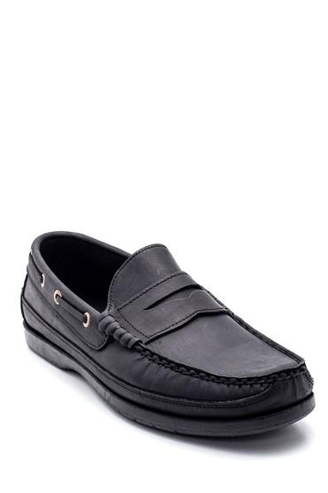 Siyah Erkek Deri Casual Loafer 5638352477