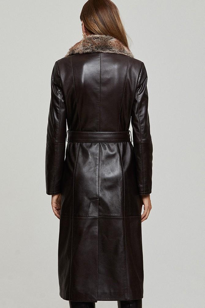 5638352461 Modena Kadın Deri Ceket