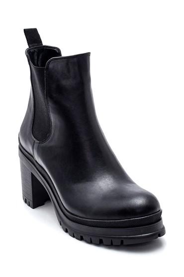 Siyah Kadın Lastikli Topuklu Bot 5638234736
