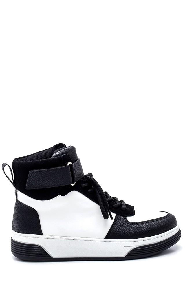 Beyaz Kadın Boğazlı Sneaker 5638343169