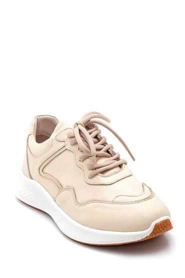 Bej Kadın Deri Sneaker 5638343809