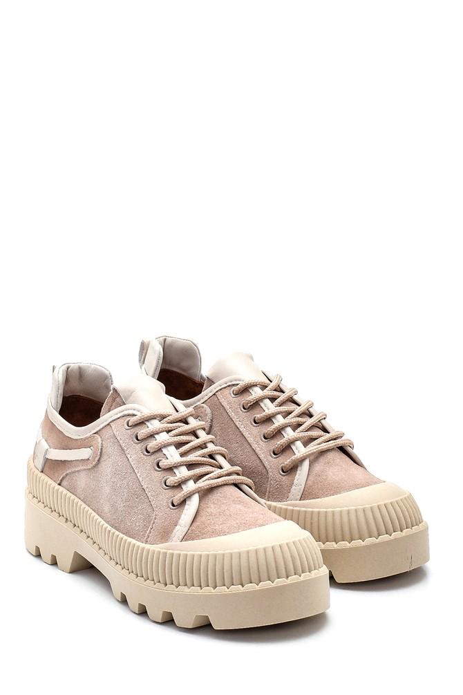 5638330539 Kadın Deri Kalın Tabanlı Ayakkabı