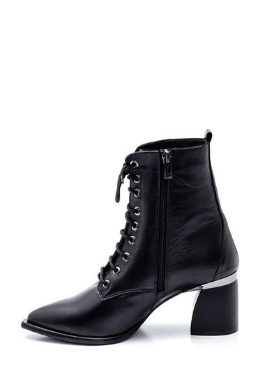 Siyah Kadın Topuklu Deri Bot 5638330794