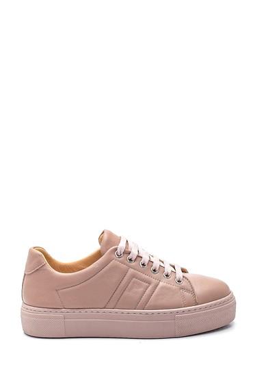 Bej Kadın Deri Sneaker 5638344599