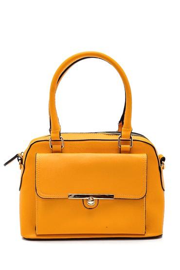 Sarı Kadın Klasik Kol Çantası 5638270294