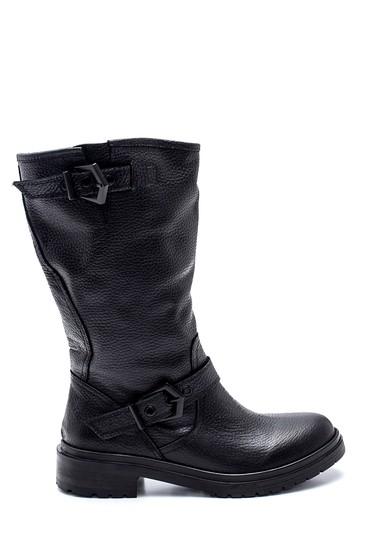 Siyah Kadın Deri Tokalı Çizme 5638212739