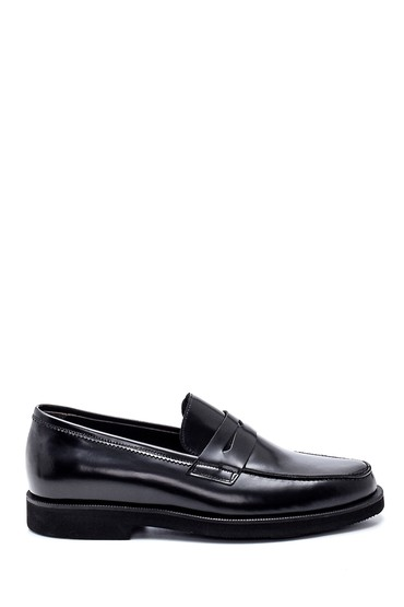 Siyah Erkek Deri Loafer Ayakkabı 5638332640
