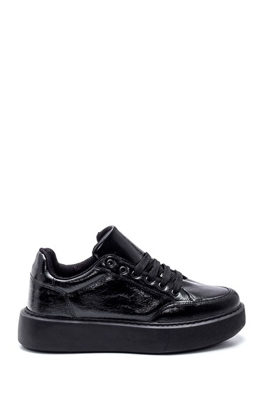 Siyah Kadın Rugan Sneaker 5638347196