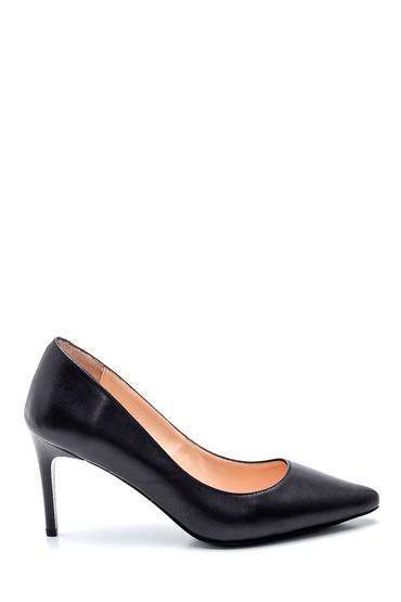 Siyah Kadın Deri Klasik Stiletto 5638352531