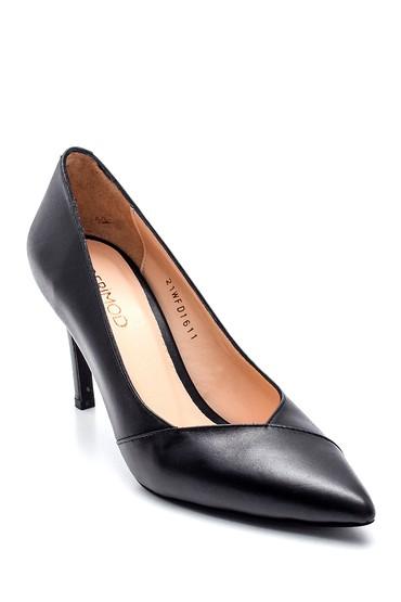 Siyah Kadın Deri Gova Stiletto 5638352550