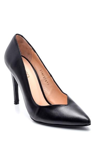 Siyah Kadın Deri Gova Stiletto 5638352563