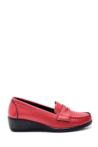 Kırmızı Kadın Dolgu Topuklu Loafer 5638338600