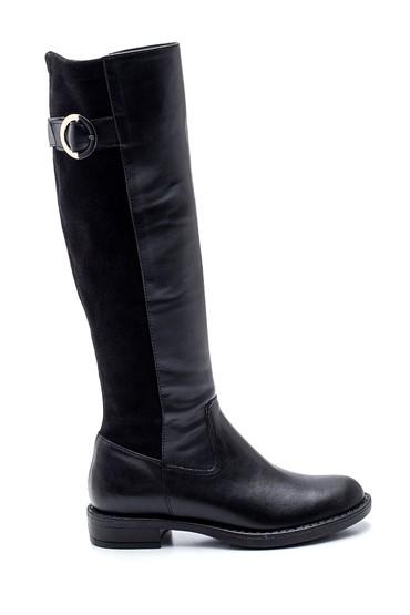 Siyah Kadın Süet Detaylı Çizme 5638304120