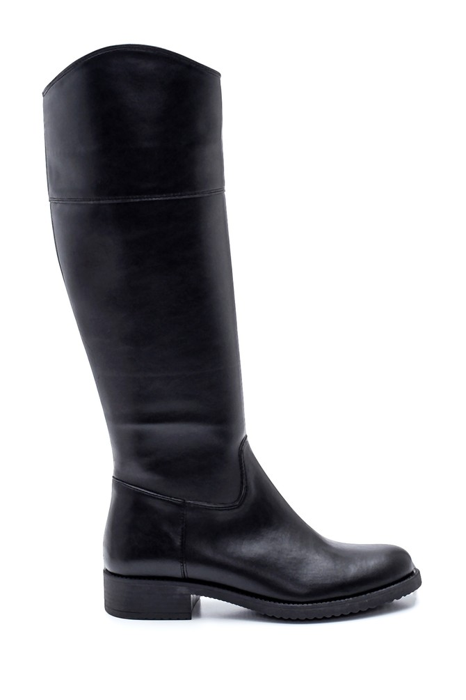 Siyah Kadın Fermuarlı Çizme 5638304256