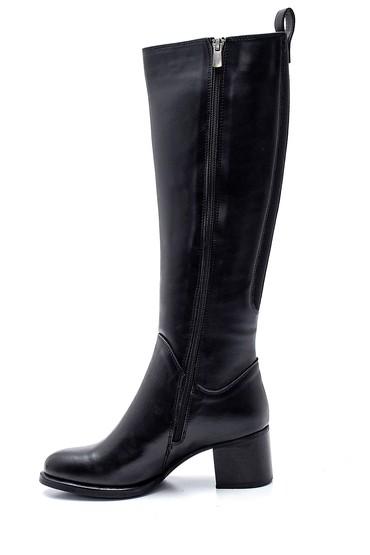 Siyah Kadın Fermuarlı Topuklu Çizme 5638304276