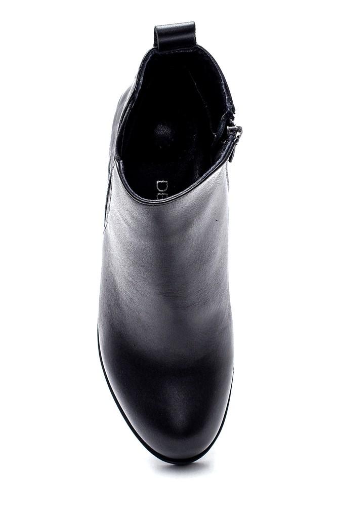 5638306305 Kadın Deri Desenli Topuklu Bot