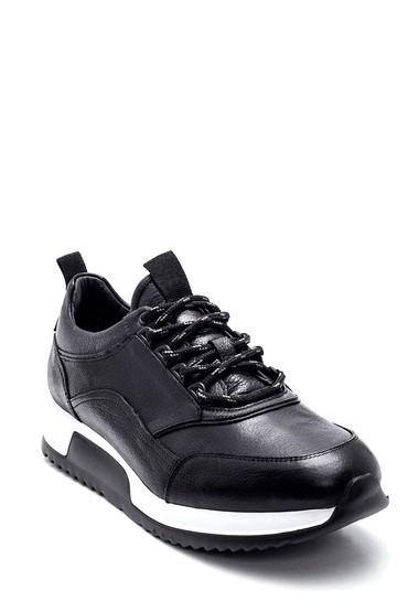 Siyah Erkek Deri Sneaker 5638317693