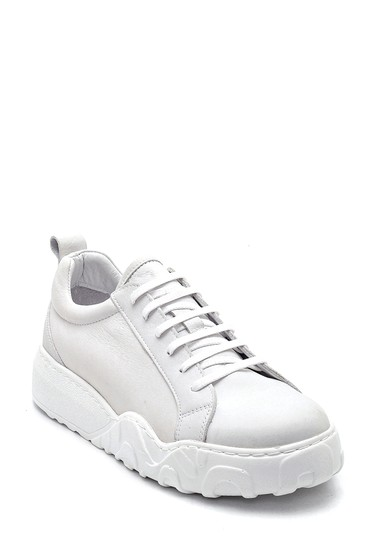 Beyaz Kadın Deri Sneaker 5638334885